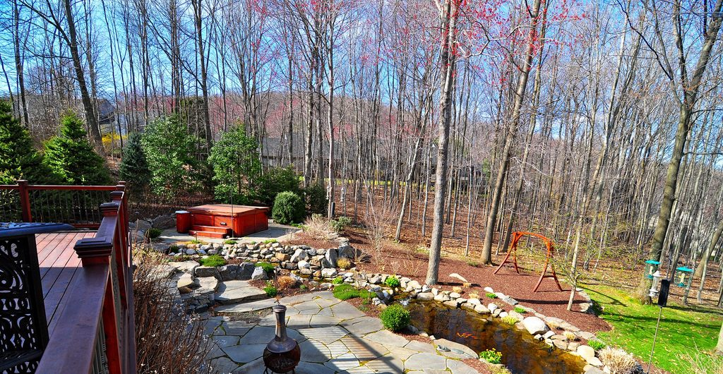 Backyard Spa, Patio, And Pondscape Paradise, Northern Westchester, NY