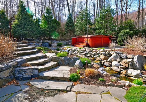 Backyard Spa, Patio & Pondscape Paradise, Northern Westchester, NY
