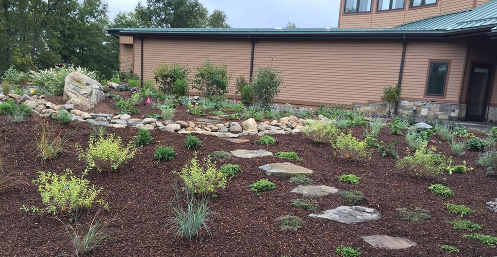 Project Finish – Water Feature With River Rock Pathways 02
